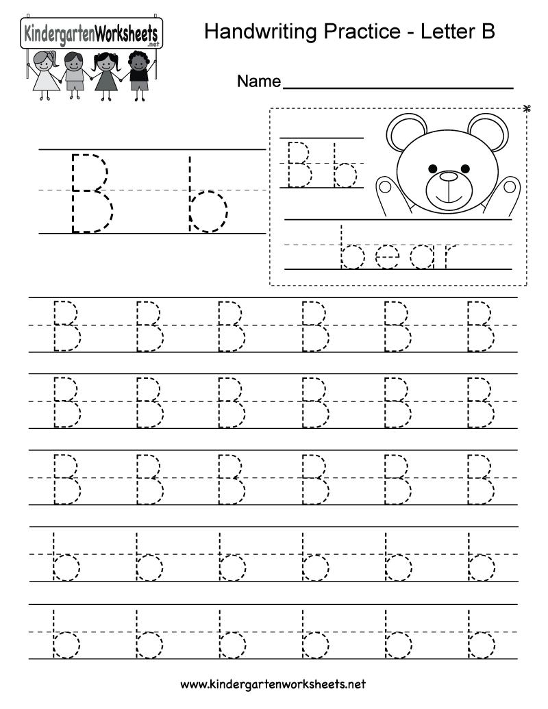 Handwriting Worksheet Letter B  289706