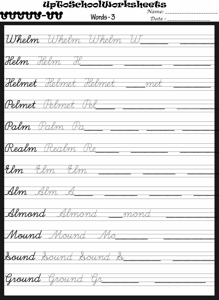 Handwriting Worksheets English  1185112