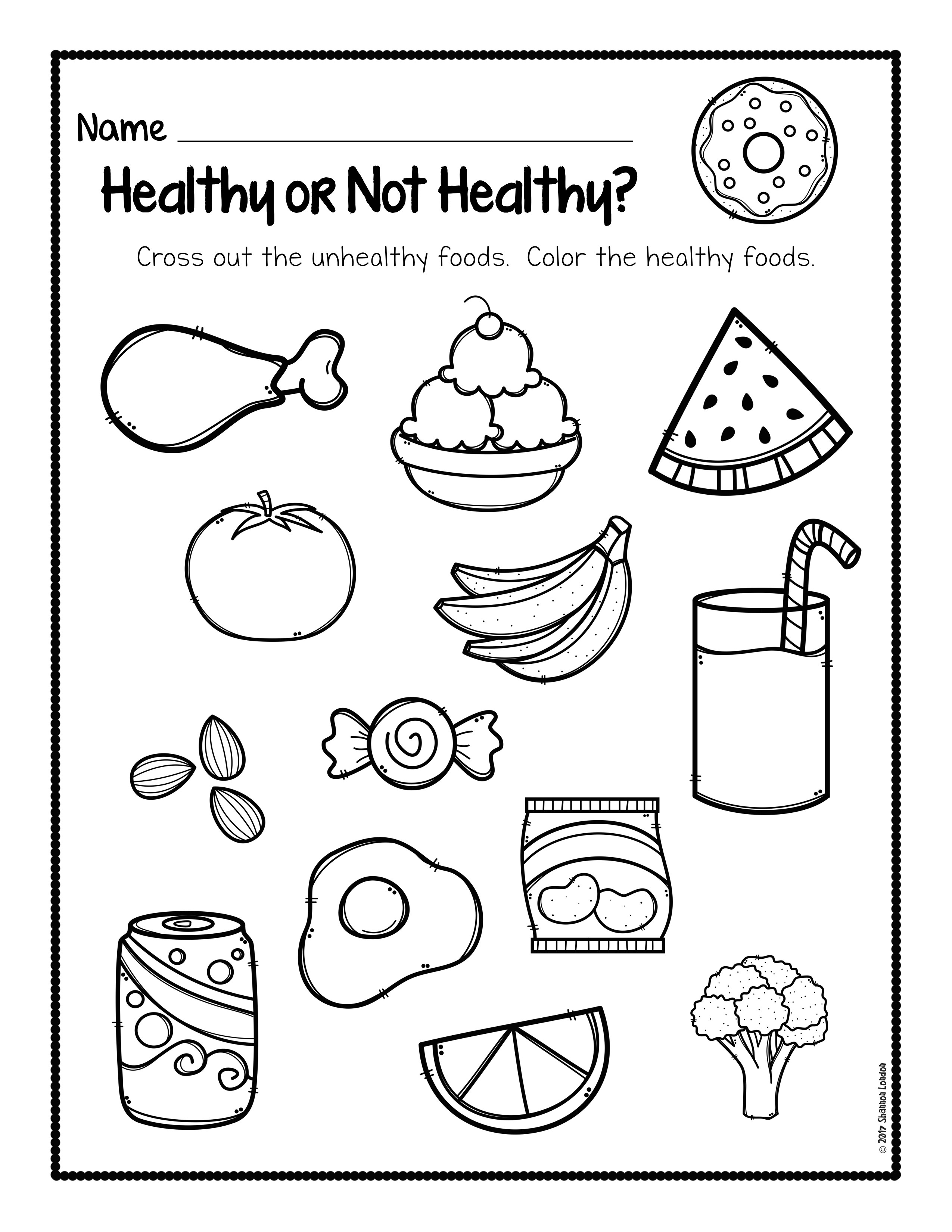 Healthy Food Worksheets For Kindergarten  1154377
