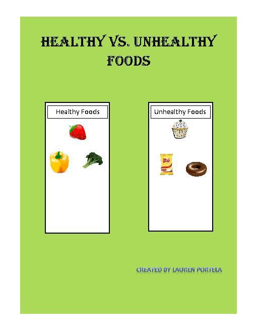 Healthy Vs Unhealthy Foods Teacherling On Free Esl Healthy