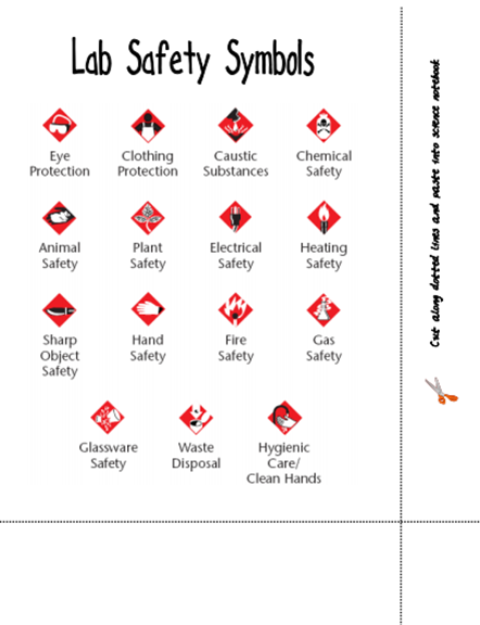 Here's A Page Identifying Lab Safety Symbols