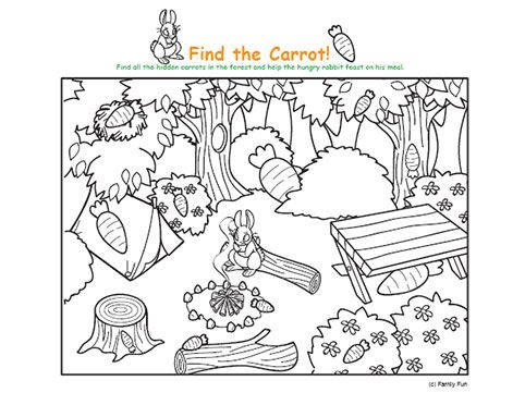 Hidden Pictures For Kindergarten Find It Spring Hidden Picture