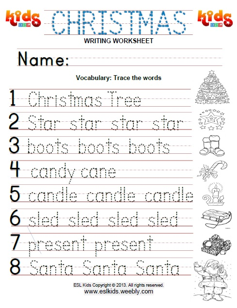 Holiday Worksheets For Kids 25685