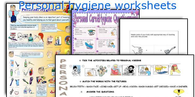 Hygiene Worksheets For High School