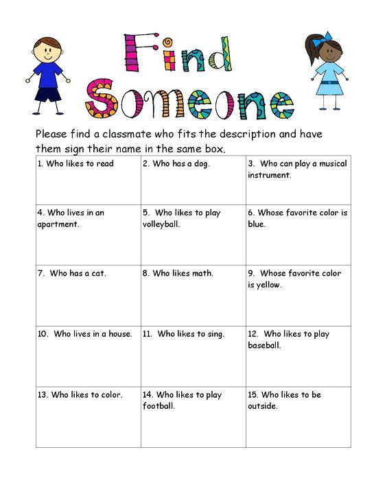 Icebreaker Bingo Worksheet Free Printable Worksheets Made By