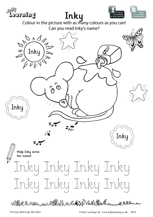 Colouring Worksheets – Jolly Learning