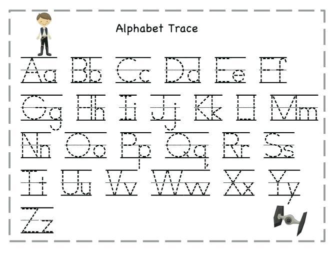 Interesting Alphabet Tracing Worksheets For Kindergarten In Letter