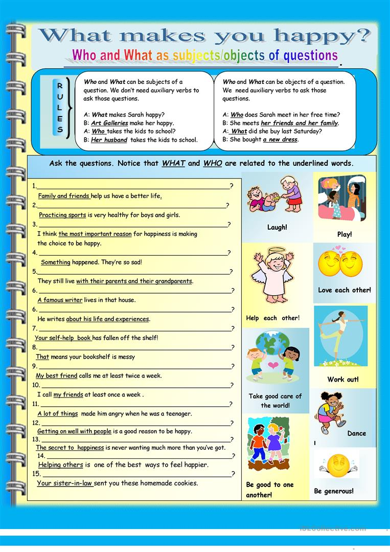 Interrogative Pronouns Worksheet 261410
