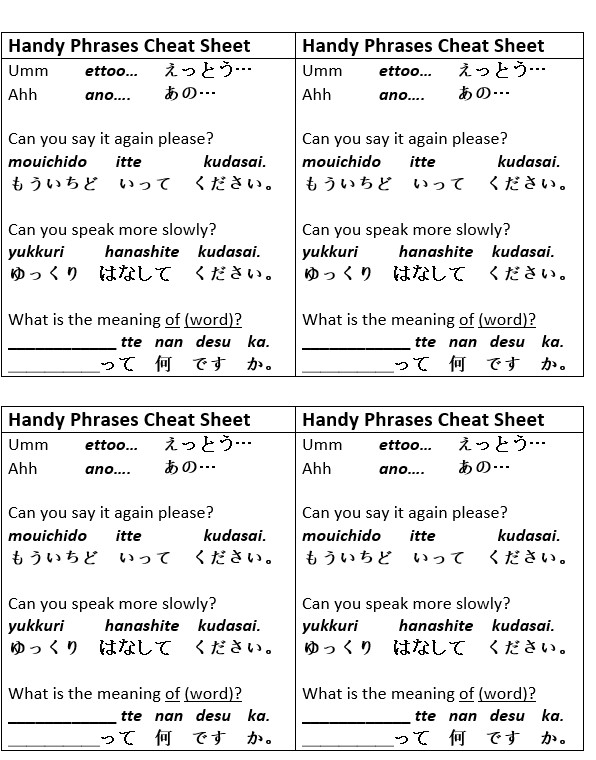 Japanese Particles Worksheet  41253