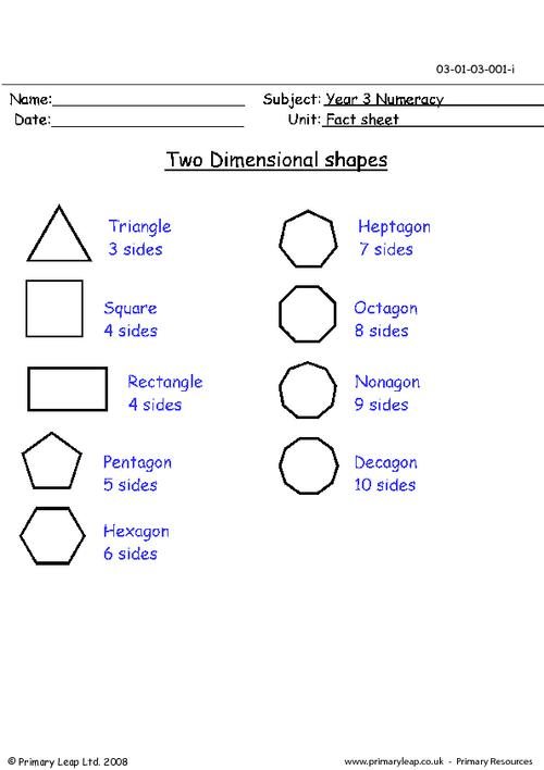 Kindergarten 2 Dimensional Shapes Worksheets  86502