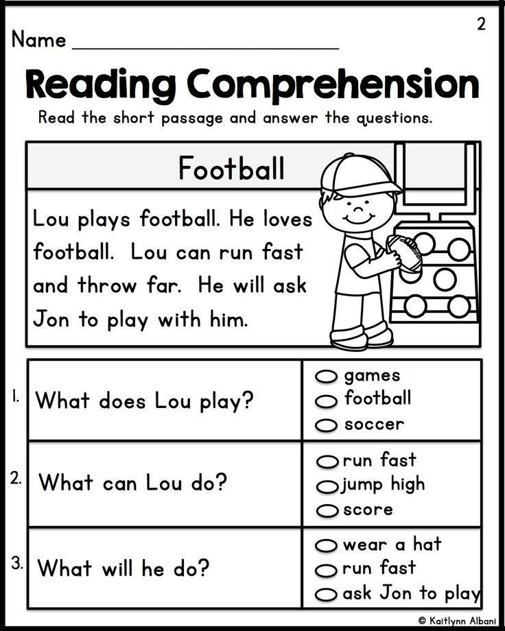 Kindergarten First Grade Reading Worksheets  1174970