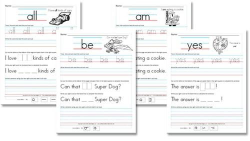 Kindergarten (primer) Sight Word Sentences
