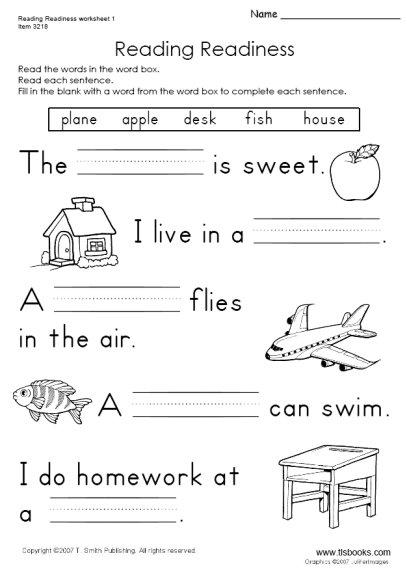 Kindergarten Reading Practice Worksheets  495046