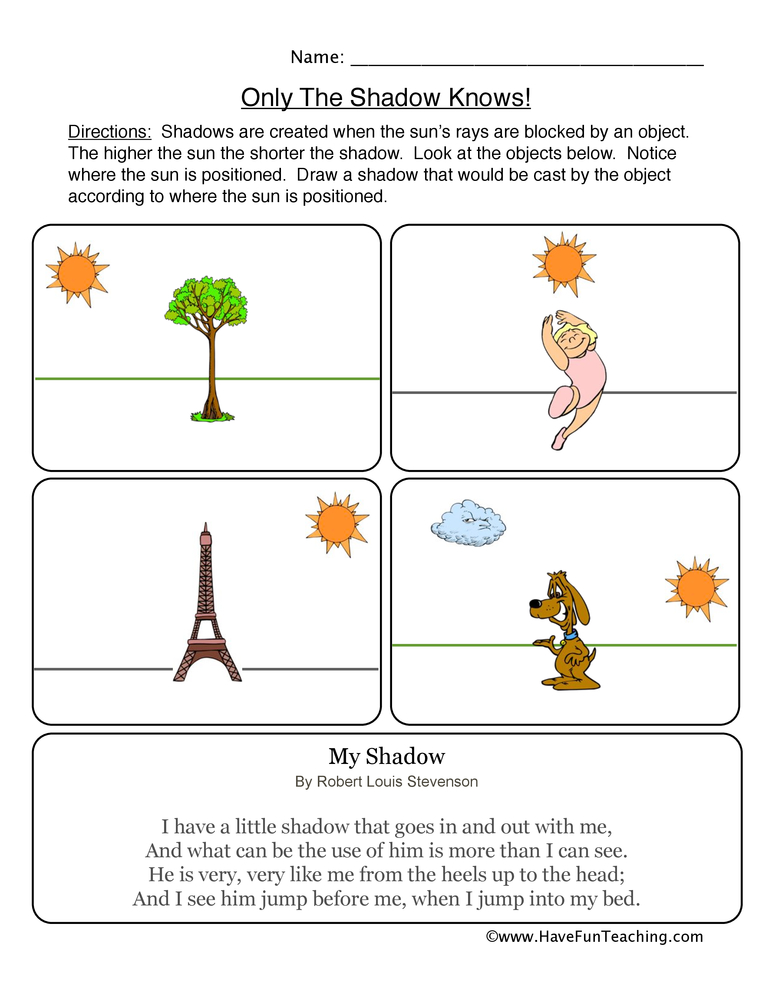 Kindergarten Shadow Writing Worksheets 1343332