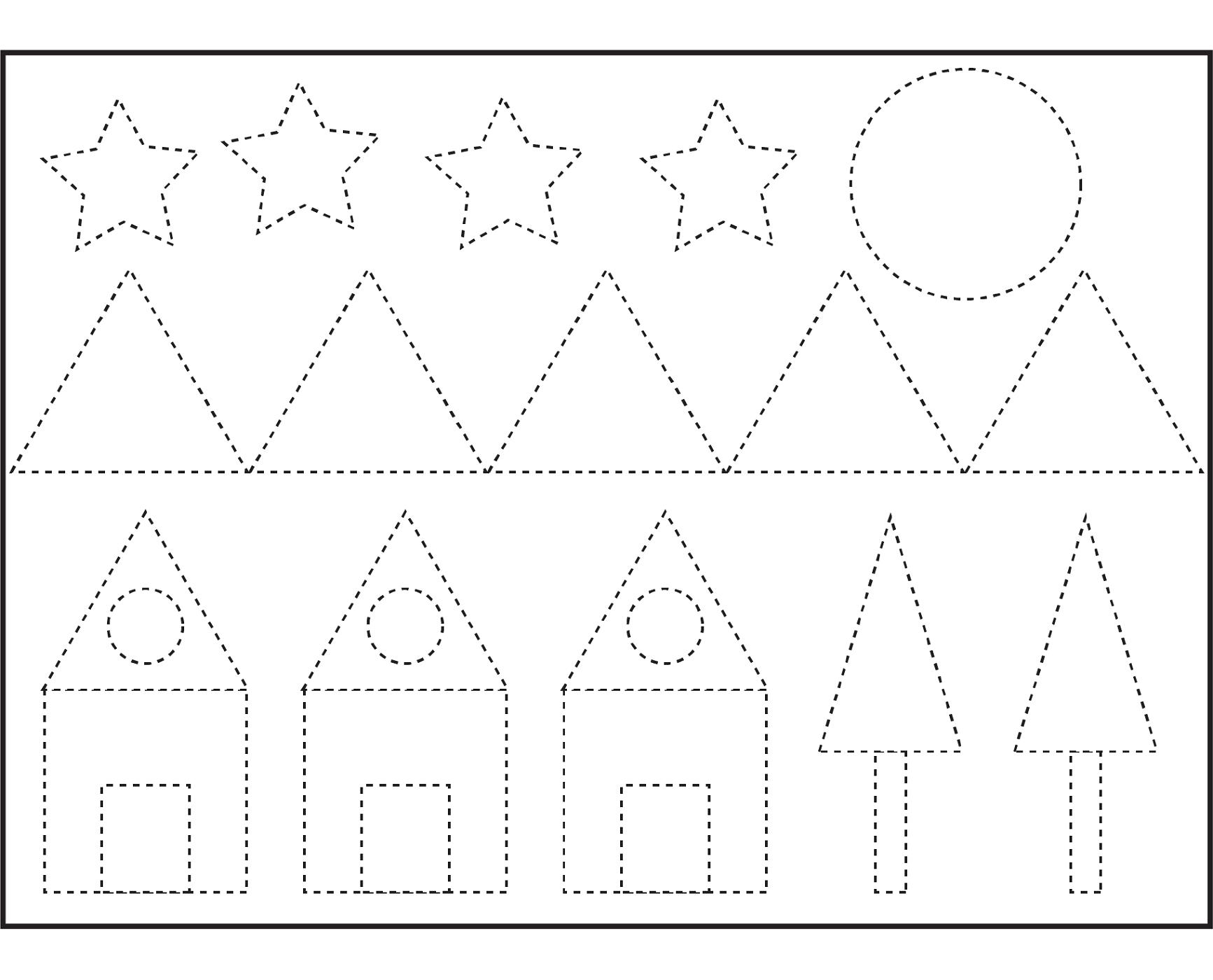 Kindergarten Shapes Worksheets Free  1162758