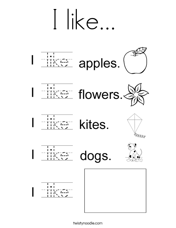 Kindergarten Sight Word Like Worksheet  735059