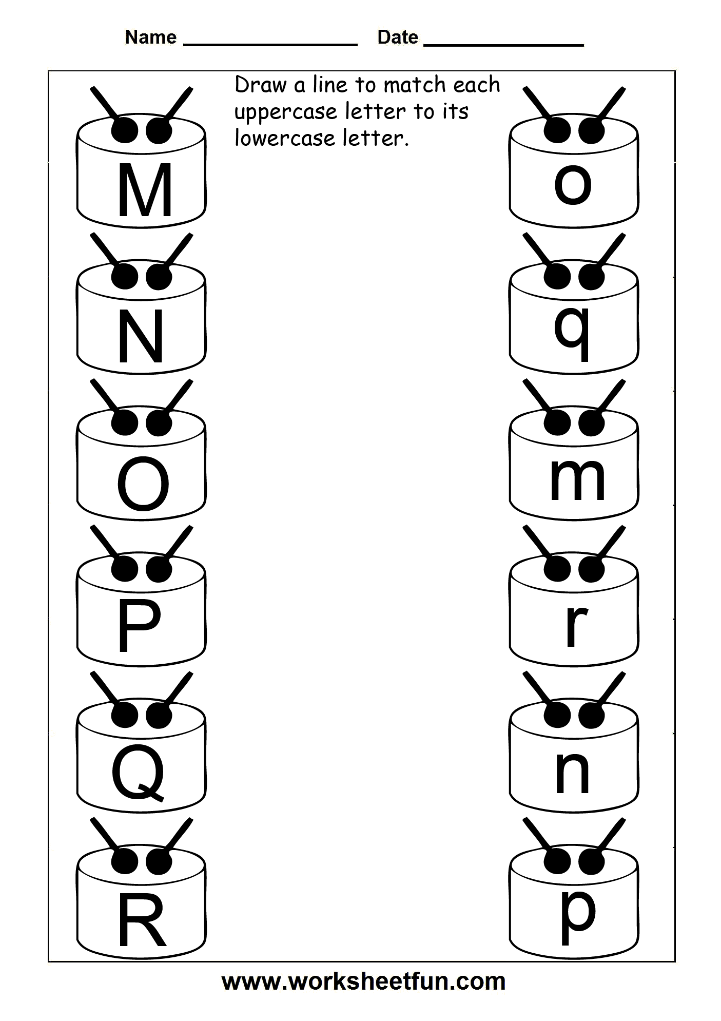 Kindergarten Upper And Lowercase Letters Worksheets 955550
