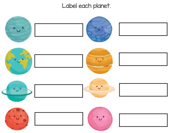 Kindergarten Worksheets – Free Solar System Workbook – Slap Dash Mom
