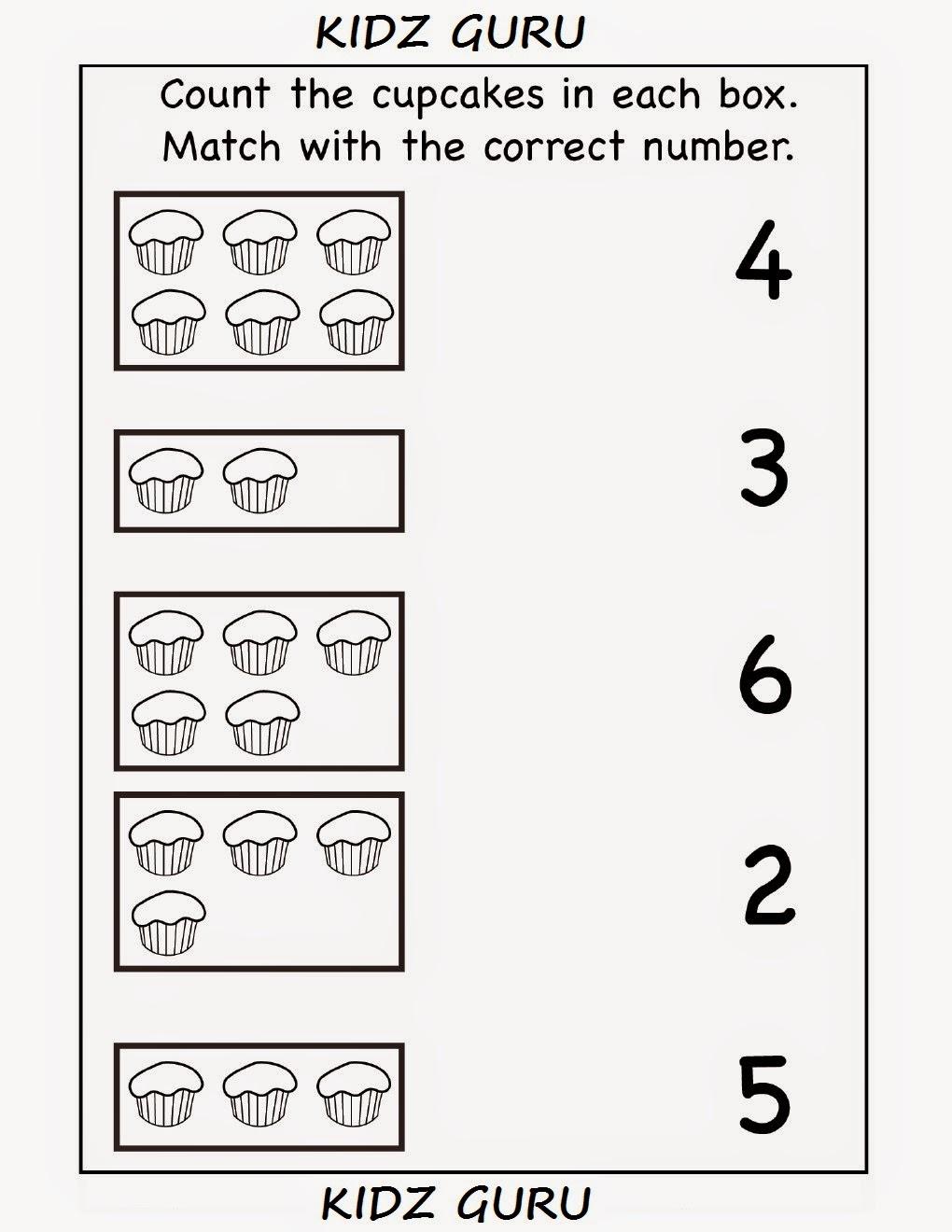 Kindergarten Worksheets Counting  784905
