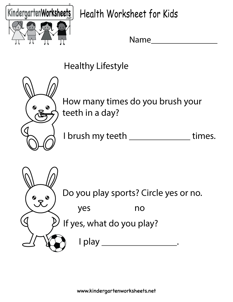 Kindergarten Worksheets For Healthy Eating  418046