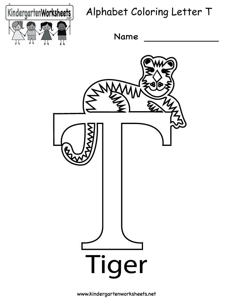 Kindergarten Worksheets For The Letter T 1371644