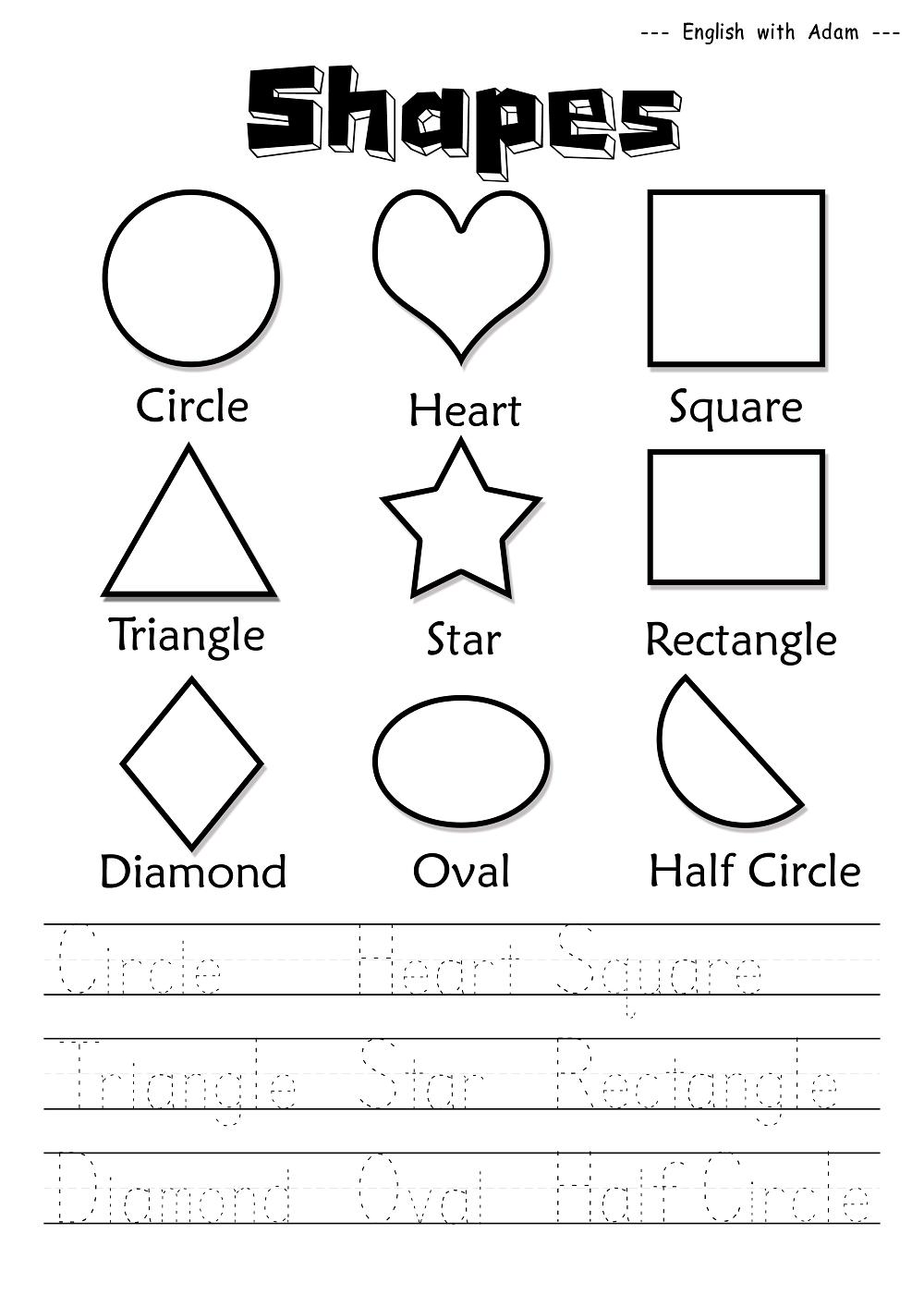 Kindergarten Worksheets Of English  659684