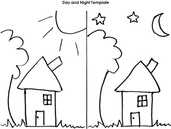 Kindergarten Worksheets On Day And Night Sky