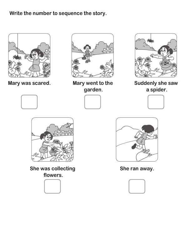 Kindergarten Worksheets Story Sequencing 656565