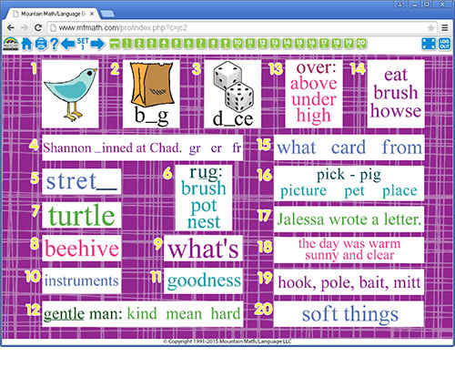 2nd Grade Language Arts Online Spiral Review For Interactive