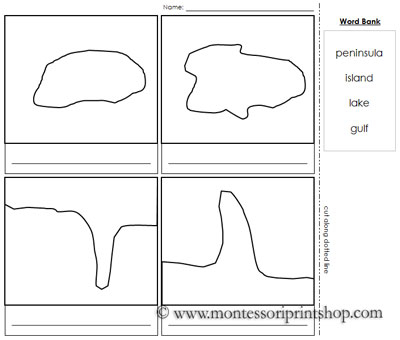 Land And Water Forms Worksheet The Best Worksheets Image