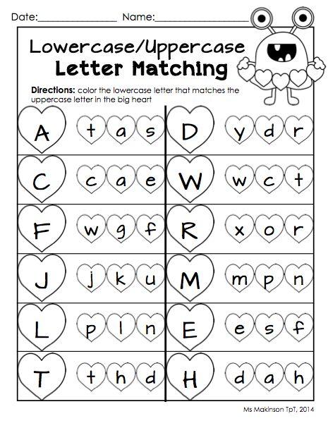 Letter Matching Worksheets For Kindergarten