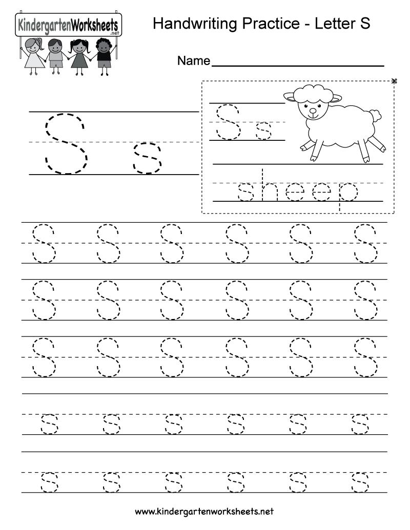 Letter S Worksheets For Preschoolers  149815