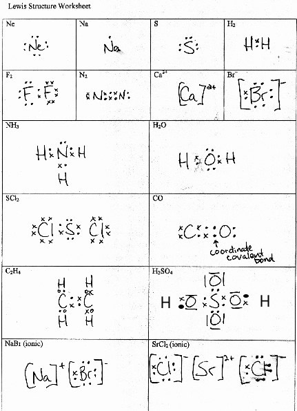 Lewis Dot Structure Worksheet Answers Worksheets For All