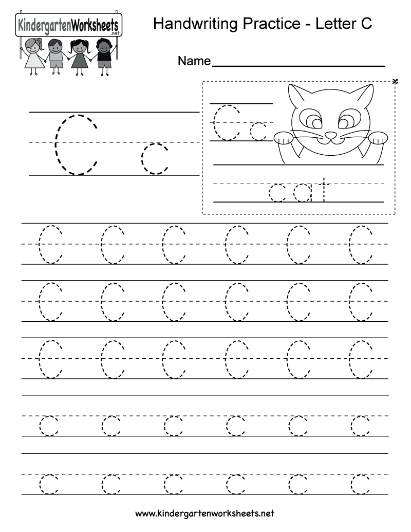 Limited Worksheets For Letter C Kindergarten Free Printables