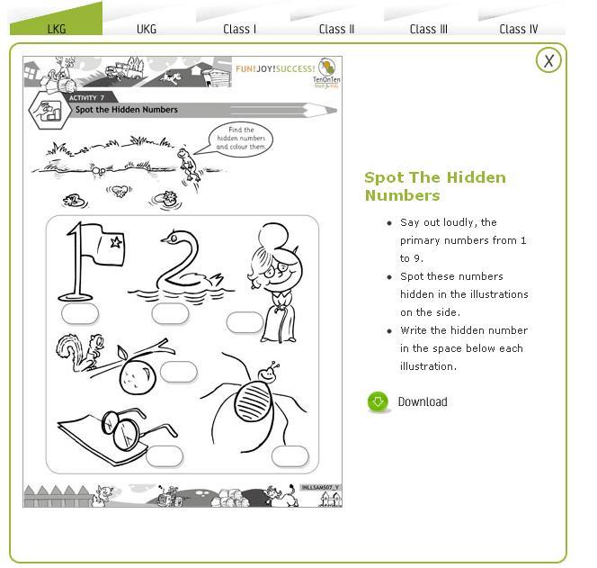 Free Math Worksheets Kindergarten