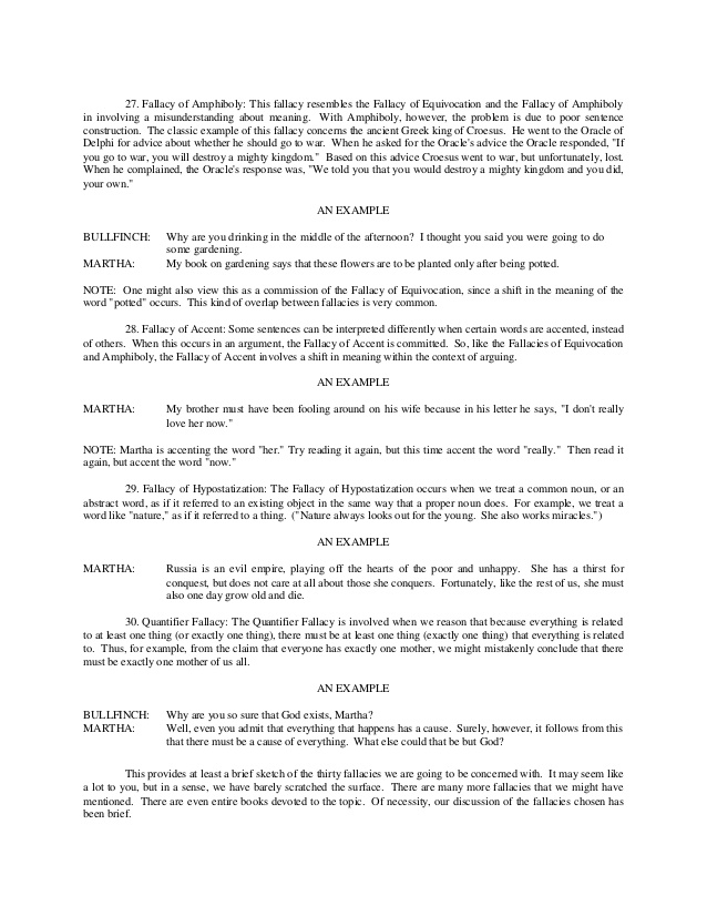 Logical Fallacies Worksheet  1885687