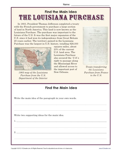 Main Idea Worksheets 4th Grade Pdf The Best Worksheets Image