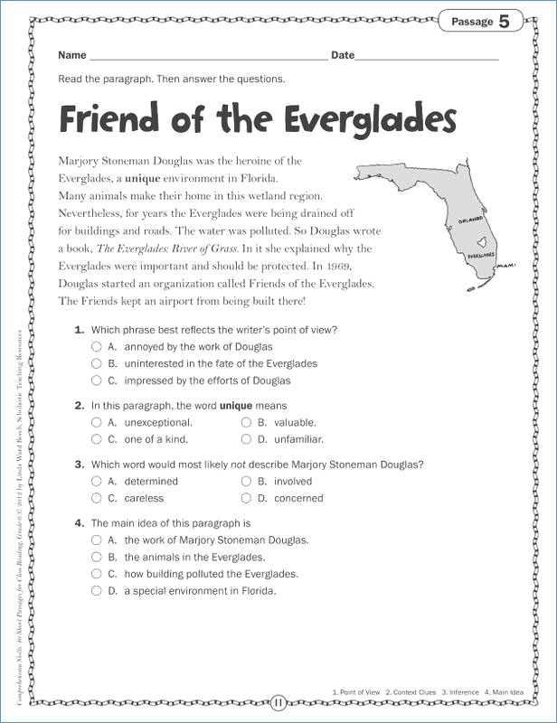 Main Idea Worksheets 5th Grade Free Main Idea And Supporting