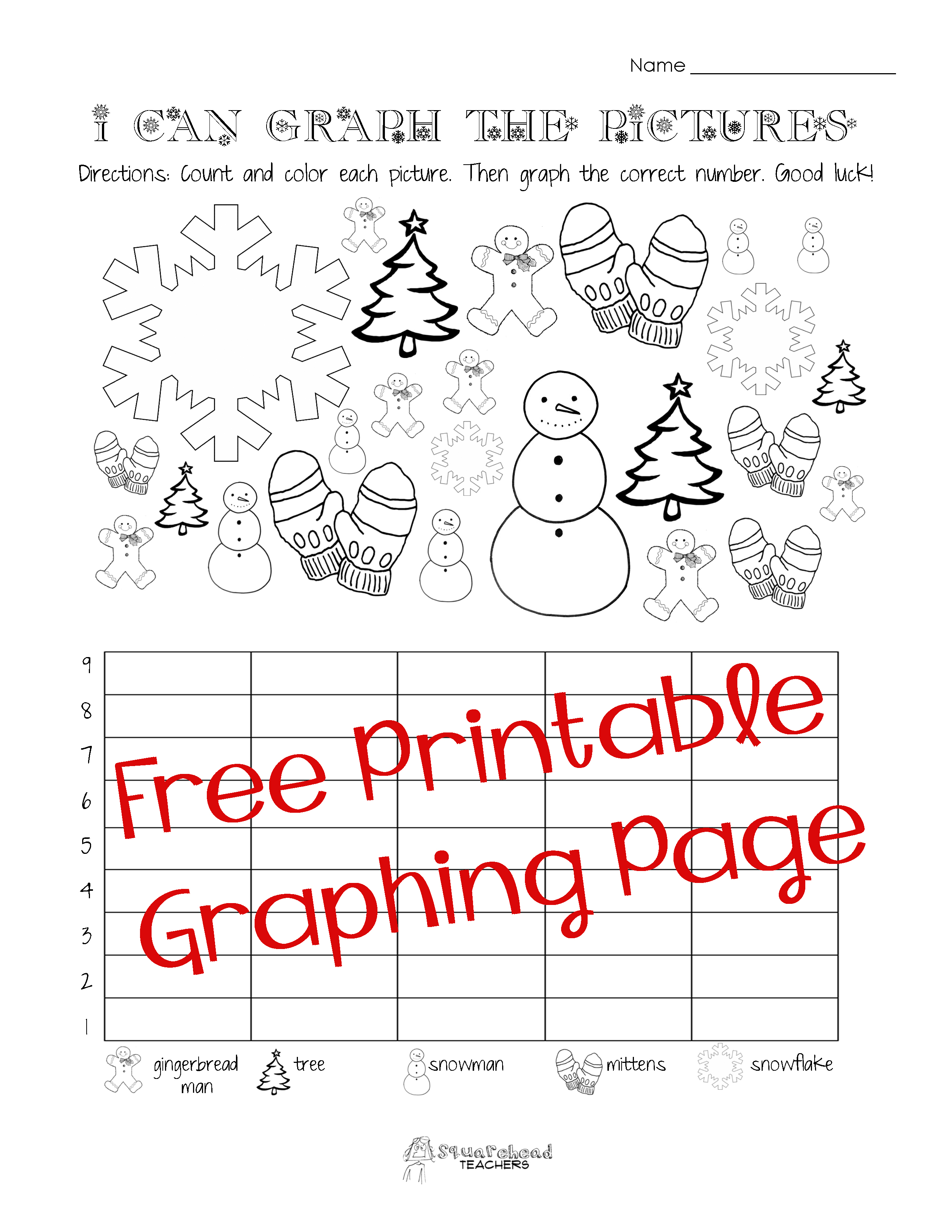 Math Christmas Graphing Worksheets 810255