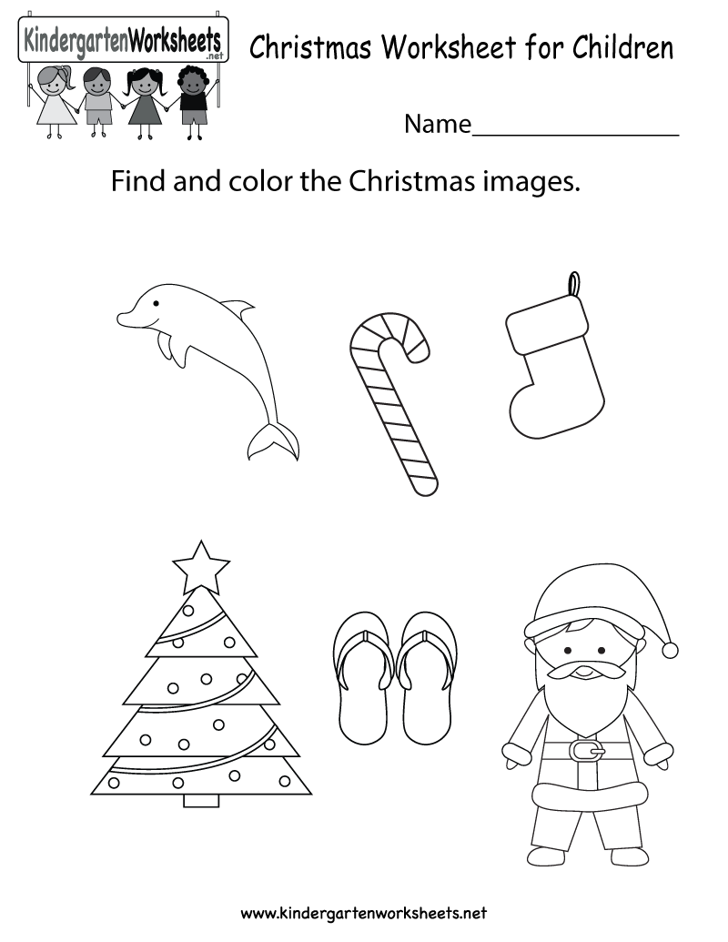Math Christmas Worksheets For Kindergarten