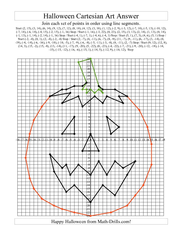 Math Halloween Worksheets High School  1093702