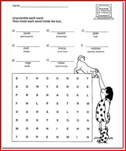 Math Worksheet   2nd Grade Language Arts Worksheets Kristal