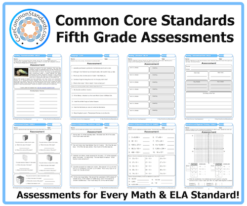 Math Worksheets Common Core 5th Grade
