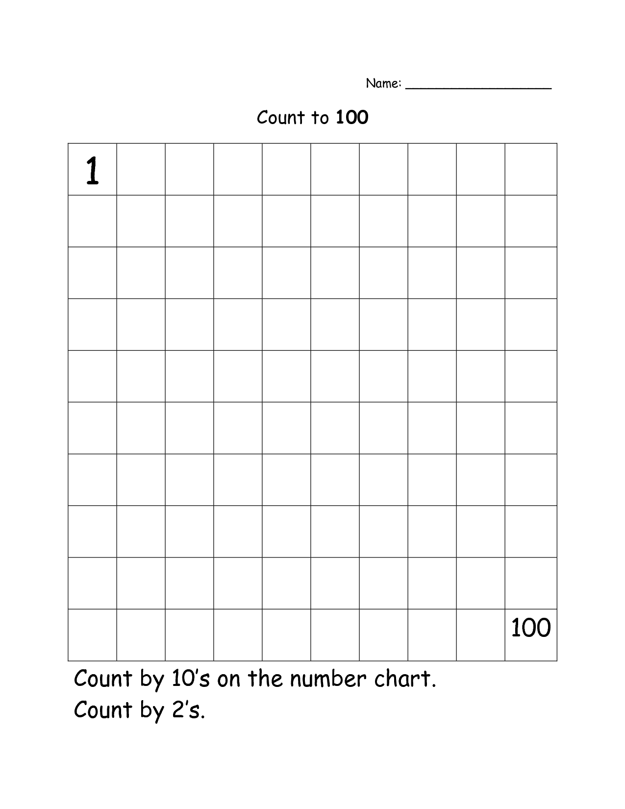 Math Worksheets Counting To 100 345261
