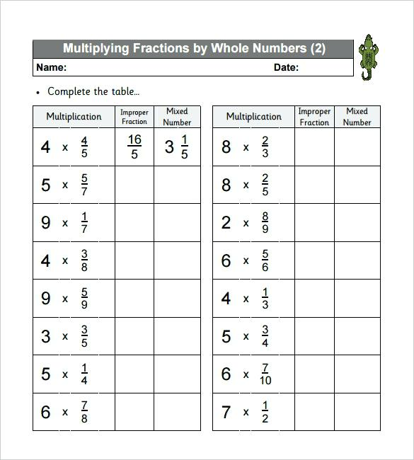 Math Worksheets For 6th Grade Multiplying Fractions  808100