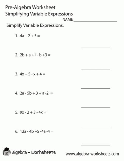New Math Worksheets For 8th Grade Algebra 1