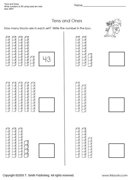 Math Worksheets For Grade 1 Base Ten 621455