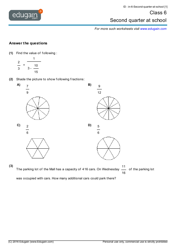 Math Worksheets Grade 6 Addition 636789
