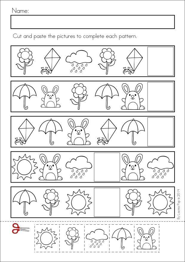 Math Worksheets Kindergarten Patterns 950440