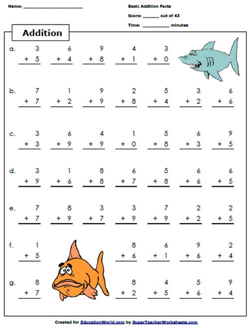 Math Worksheets Teachers